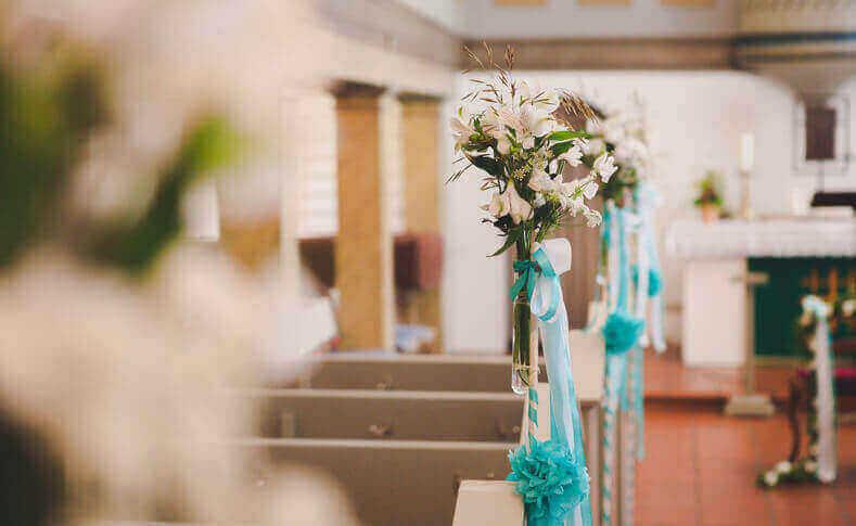 Hochzeit Anna und Jan Kirche Dekoration