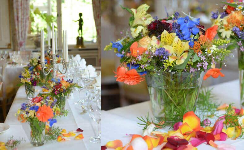 Hochzeit Bente und Florian Tischdekoration