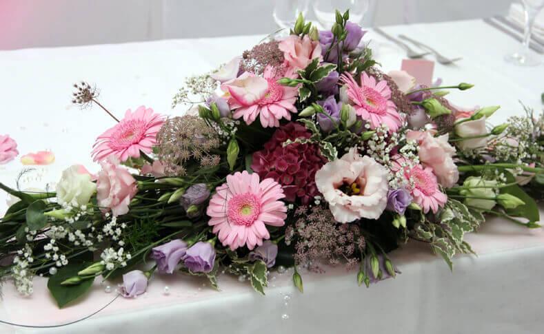 Hochzeit Britt und Florian Tischdekoration