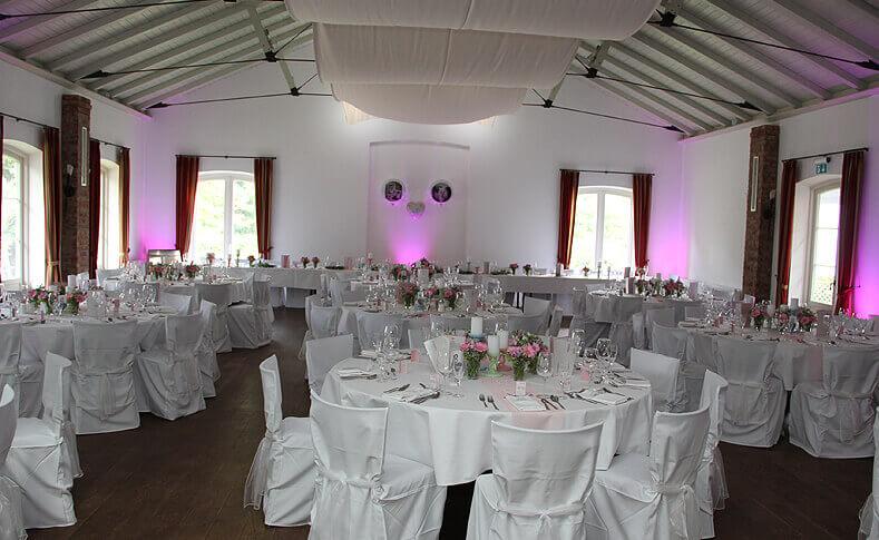Hochzeit Britt und Florian Übersicht Saal