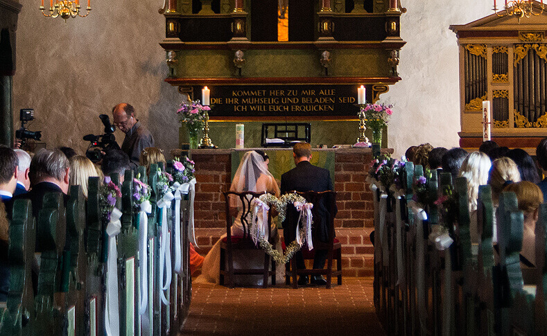 Hochzeit Britt und Florian Kirche