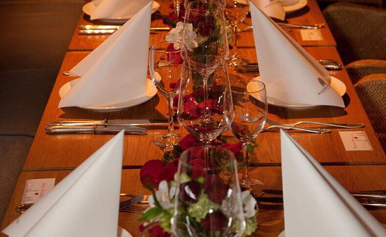 Hochzeit Carola und Martin Tischdekoration