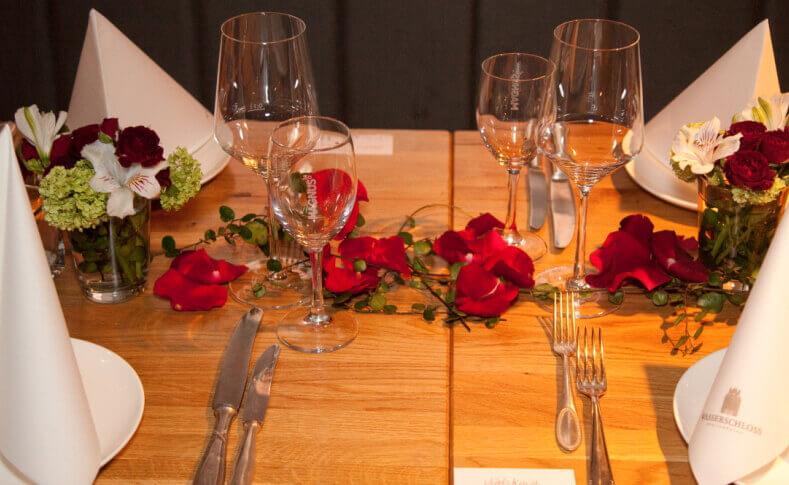 Hochzeit Carola und Martin Tischdekoration Nahaufnahme