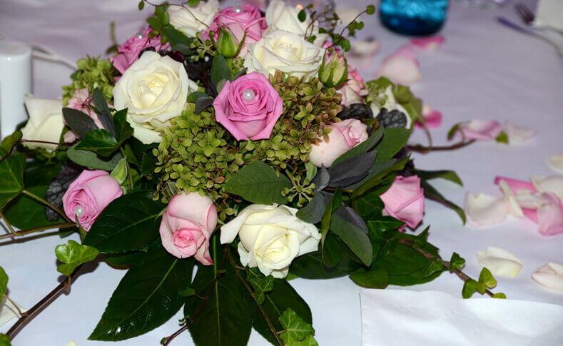 Hochzeit Dorothee und David Tischdekoration