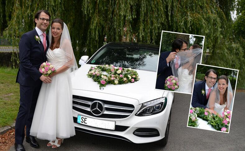 Hochzeit Dorothee und David Autoschmuck
