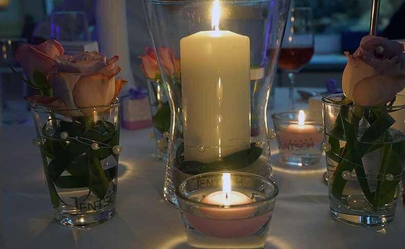 Hochzeit Ehepaar G.-G. Tischdekoration