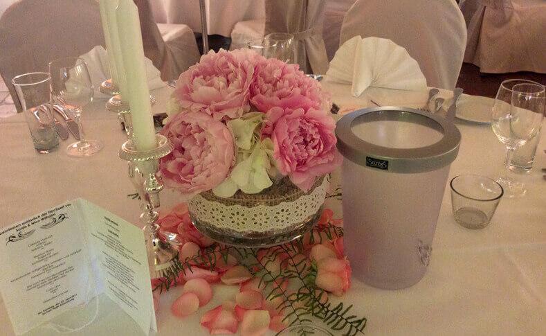 Hochzeit Ehepaar Wilhalm Tischdekoration