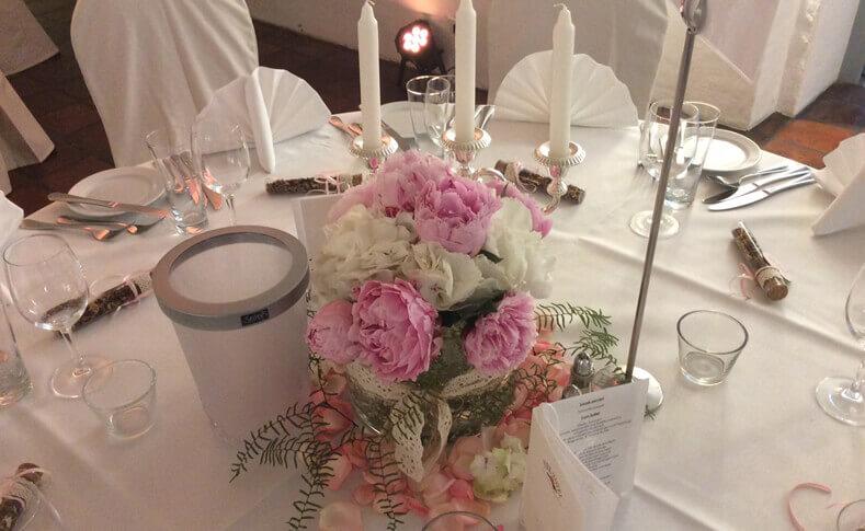 Hochzeit Ehepaar Wilhalm Tischdekoration 1