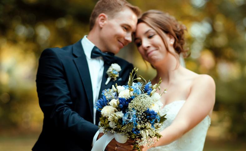 Hochzeit Familie K. Braut und Bräutigam