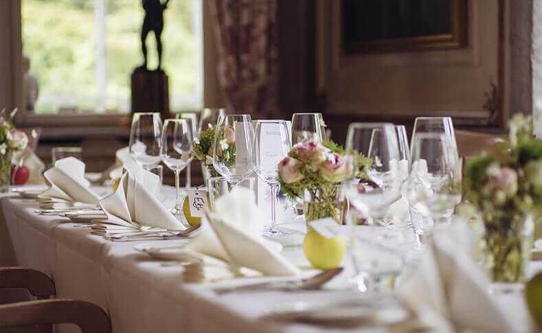 Hochzeit Friederike und Andre Tischdekoration