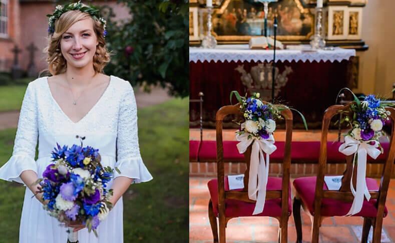 Hochzeit Gareth und Romy Braut und Kirche