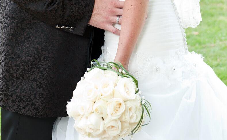 Hochzeit Ilka und Torsten Brautstrauß nahaufnahme
