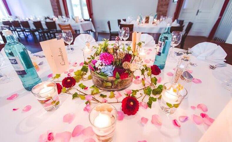 Hochzeit Julia und Patrick Tischdekoration