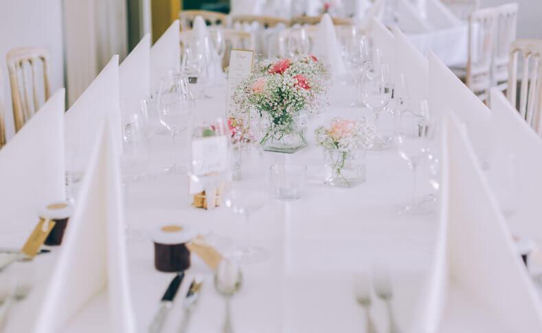 Hochzeit Sarah und Klaas Tischdekoration