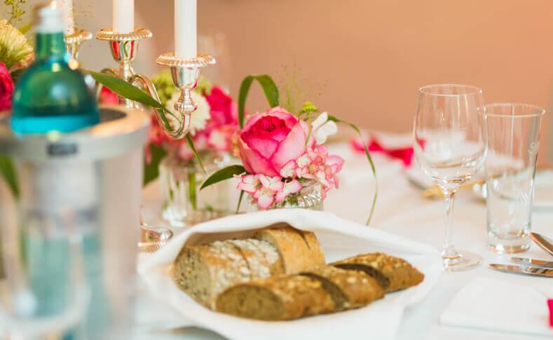 Hochzeit Tina und Flemming Tischdekoration 1