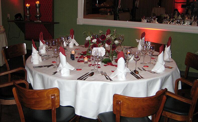Hochzeit Ute und Oliver Tischdekoration