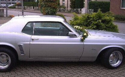Blumenschmuck Mustang