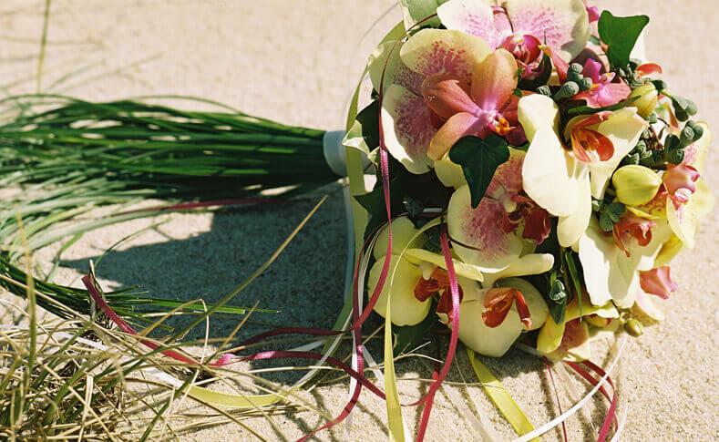 Hochzeitsfloristik mit Orchideen