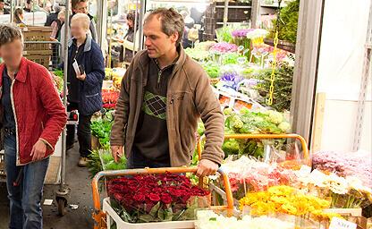 Kai Jentsch auf dem Blumengroßmarkt Hamburg