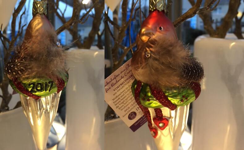 Glaskugeln Vogel Vorne